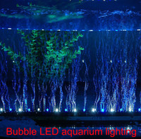 Wholesale 110V V CM Blue white light led aquarium lighting Bubble Light Strip Light Diffuser led submersible lights