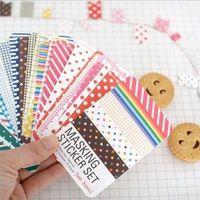 Wholesale New models B style Diary Sticker Set of sheets DIY DIARY DECORATION MASKING STICKER TAPE PASTEL SET