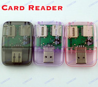 Wholesale card reader for Micro SD Card TF card Micro SD TF M2 camera MS SD Memory Stick M2 MINI SD TF Card Reader Adapter
