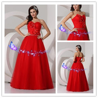 Wholesale The new sisters dress strapless toast the bride wedding dress dress evening dress with long red bridesmaid dresses