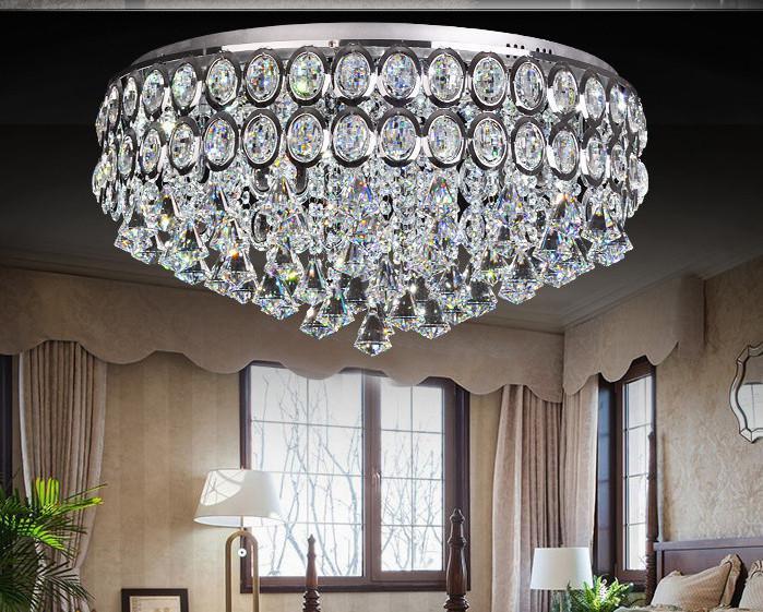 Vente en gros de moderne lustre en cristal led plafonnier for Gros lustre moderne