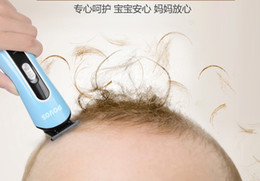 Wholesale POVOS Brand Baby Hair Clipper Chargeable Low Noise Cheap PR3011 Blue