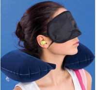 amenity kit - in1 Travel Set Inflatable Neck Air Cushion Pillow eye mask Ear Plug amenity kit