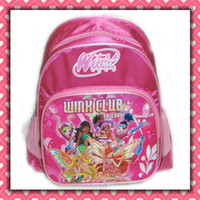 Wholesale winx club kids child book bag backpack school bag