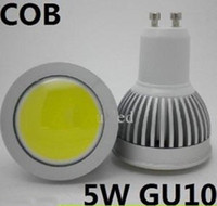 5W Spotlight Yes X5 Free shipping Newest COB 5W GU10 Dimmable Led Spot Light Bulb 500LM Cool Warm White Led Downlight Lamp 110V 220V led lighting spotlight