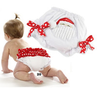 Wholesale christmas gift baby care training pant santa baby underpant Brief pp pants bowties Bread Pant Panties diaper cover X mas babywear D102