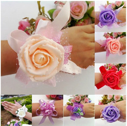 Wholesale Wedding Banquet Party Supplies Bridal bridesmaid flower wrist corsage wrist flower high quality foam headdress flower