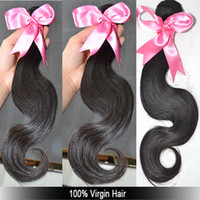 wholesale remy hair - 100 virgin Brazilian hair Body wave bundle Mixed lengths inch to inch Remy Hair Weaves A