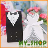 Wholesale Wedding Candy Bags Paper White And Black European And American Design Wedding Favor Boxes
