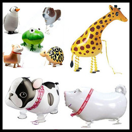 Wholesale Walking Balloons Walking Pet Foil Animal Print Personalized walking balloons for baby as good toys printing colored delivery hot new sale