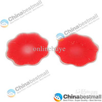 Women Silicone  High Quality Silicone Nipple Cover Bra Pad- Red-Chinabestmall