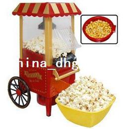 Wholesale by CPAM diy mini carriage shape nostalgic hot air popcorn machine poper pop corn maker with EU plug red kg