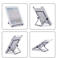 Wholesale 180 Degrees Rotation Multi Angle Stand Holder Metal Adjustable Folding Support Suitable for inch iPad2 Android tablet PC notebook