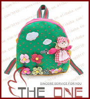 Wholesale 2013 baby schoolbag designs can chooce baby cute carton design bag kids backpacks children handmake shoulder bags