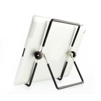 Wholesale 180 Degrees Rotation Multi Angle Stand Holder Metal Adjustable Folding Support Best Suitable for inch iPad2 Android tablet PC