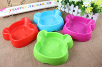 Wholesale Cheap Colourful Plastic Dog Face Dog Water Bowls Pet Bowls Pet Feeders PE25