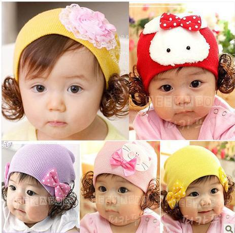 Wholesale Cheap Ear Muff Crochet Hats Visor Fedora Newborn Hat Ball Cap  Cap Baby Cute Girl  Spring / Autu ...