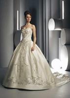 A-Line corset bodice wedding dress - Exquisite handamde sweetheart wedding dresses with embroider sweep train bridal dresses sleeveless bridal dresses corset bodice sheer