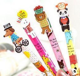 Wholesale Novelty Back to School Cute Cartoon Clip Animal Circus Automatic ball pen Ballpoint Pen styles