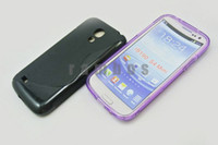 Wholesale TPU Rubber Cell Phone Gel Cover for Samsung Galaxy S4 Mini i9190 S Line Type Back Case