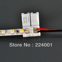 Wholesale led connector mm Pin Connector With Wire Cable For Single color led strip light ViaHONGKONGPOST