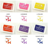 Wholesale 15color set stationery Creative Cute Colorful Cartoon Ink pad Ink stamp pad Inkpad DIY promotion gift