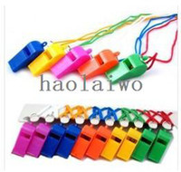 Wholesale Plastic Whistle With Lanyard for Boats Raft Party Sports Games All Brand New Items