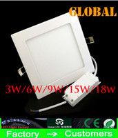 Wholesale Cheap Square Panel Bulbs Light w w w w w w Super Thin White Warm White LED Ceiling Light Led kitchen lighting V V Via FedEx