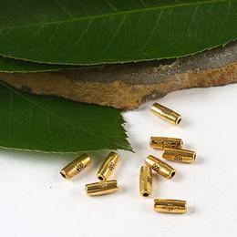 300pcs dark gold-tone tube spacer beads H2294