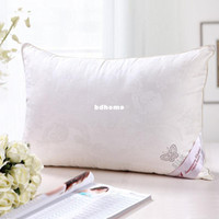 Wholesale mulberry silk filled with cotton pillow cover silk pillow