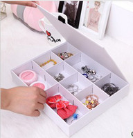 cosmetic storage box - Cute grid multipurpose storage box Cosmetic storage box