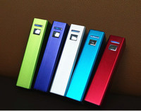 Wholesale 2600mAh Portable Power Bank External Battery Charger for HTC phones samsung Mobile Phones