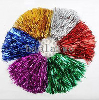 Wholesale Pompom Cheering pompom Metalic Pom Pom Cheerleading products G colours PL8001
