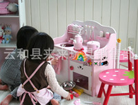 Wholesale Children Play Toy Exports Strawberries Oversized Luxury Kitchen Stove Toys Wooden Simulation Kitchenwares