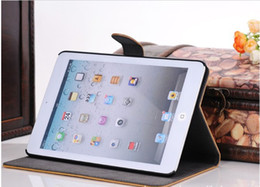 Wholesale 7 inch high quality Antique Wallet Style Folio Stand Leather Cover Case For Apple iPad Mini