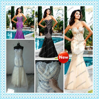 Sexy alternative prom dresses - 2016 Best Selling Hot Sexy Style Alternative Color Champagne Tulle Bling Bling Crystals Cheap Mermaid Prom Evening Dresses Formal Party Gown