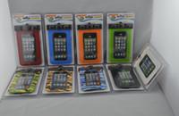 venda por atacado waterproof bag for mobile phone-Frete Grátis 100% IPX8 impermeável Mobile Phone Bolsa Bolsa, equipado com um termômetro ou bússola, 20M água subaquática para telefone caso
