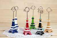 Wholesale NEW cute colorful Pairs tower resin clip Photo clip message memo fashion gift