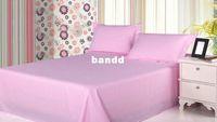 Wholesale 1 B Bed sheets double slanting stripe cotton cotton satin sheets singleplayer cotton plain sheets