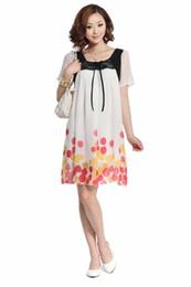 Wholesale Maternity Dresses Maternity Skirts One Piece Dress Chiffon Loose Skirts