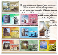Paper   World landscape box Postcard variety of paper memory Postcard Birthday Card Greeting Card 3 sets (1 sets of 30 Zhang)