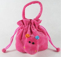 Wholesale Hot selling girl s boy s plush bags cartoon animal rabbit Drawstring children Jewelry pouch kids birthday gifts