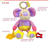 Cloth   Brand New ELC little mouse shape bed bell hanging lathe BB device rattles baby toys, baby teether toys to appease plush toy retail free.sh