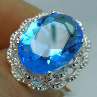 Fashion aquamarine flower ring - Free delivery beautiful flowers form aquamarine silver rings