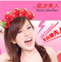 Wholesale GAGA Hair Curler LOVELY Strawberry Balls Soft Sponge Hair Curler Rollers