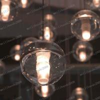 Wholesale LLFA100 Bocci LED Crystal Glass Ball Pendant Lamp Meteor Rain Ceiling Light Meteoric Shower Stair Light Droplight Chandelier Lighting