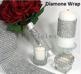 Wholesale HOT YD DIAMOND MESH RHINESTONE WRAP RIBBON CRYSTAL TRIMMING CAKE BANDING