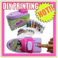 Nail Art Stamping Machine Nail Art Equipment Yes Free Shipping DIY Nail Art Colors DIY Printing Printer Stamper Pattern Manicure Machine Stamp Kit #1256