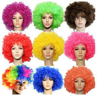 Wholesale pc Fashionable Football Fans Wig Party Halloween Cosplay Wigs Christmas Festival Use PW029