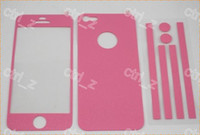 Wholesale colorful Full Body Color Colour Leather Sticker Screen Protector For iphone G